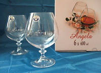 Бокалы для коньяка Bohemia Angela 40600/Q8074/400, 6х400 мл (40600/Q8074/400)