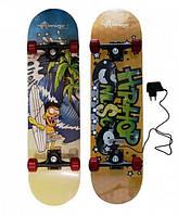 "Скейтборд с подсветкой деки Flash (размер: 31""х7,75"", толщина доски 10мм)"
