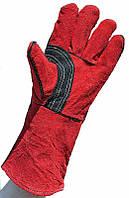 Перчатки спилковые красные
