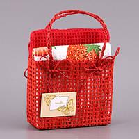 """Набор кухонных полотенец  40Х60 см 2 шт """"Клубника"""" в подарочной упаковке 825-001"""
