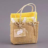 """Набор кухонных полотенец  40Х60 см 2 шт """"Лимон"""" в подарочной упаковке 825-002"""