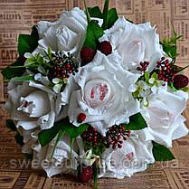 """Букет из конфет Raffaello """"Белые розы"""", фото 2"""
