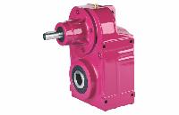 Цилиндрический мотор-редуктор вертикального типа D Цельный вал (серия DT), D27, без электродвигателя