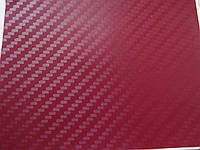 Пленка под карбон 3D темно-красная
