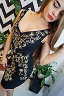 """Эксклюзивное, женское платье для вечера """"Шикарный декор - вышивка, камни, пайетки""""   Турция!"""