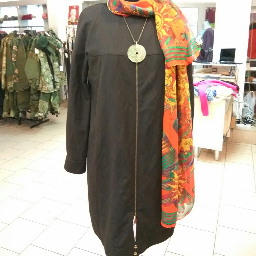 Вовняне плаття по коліно балон 48-50 ексклюзив 1 шт