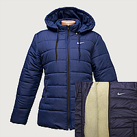 Куртка женская темно-синие на овчинке K225H, фото 1