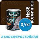 Фарбекс Farbex Краска-Эмаль ПФ-115 Коричневая №86 25кг, фото 3