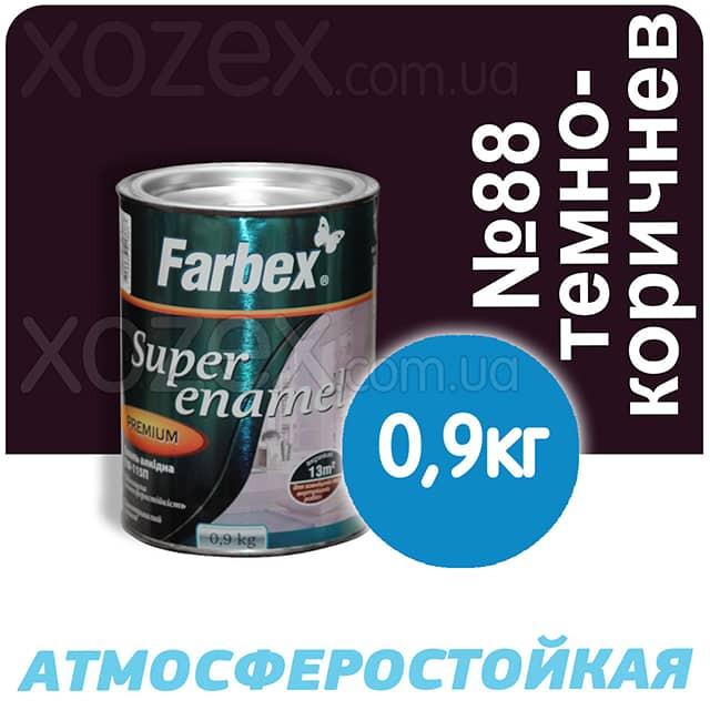 Фарбекс Farbex Краска-Эмаль ПФ-115 Темно-коричневая №88 0,9кг