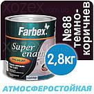 Фарбекс Farbex Краска-Эмаль ПФ-115 Темно-коричневая №88 0,9кг, фото 2