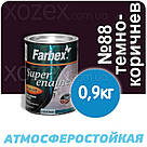 Фарбекс Farbex Краска-Эмаль ПФ-115 Темно-коричневая №88 2,8кг, фото 2
