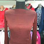 Блузочка молодіжна тонка марсала трикотаж, віскоза виріз човник 44-50, фото 2