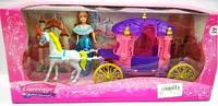 Кукла с лошадью и каретой SS004