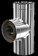 Трійник з нержавіючої сталі 90 Ф150/220 н/н