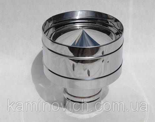 Дефлектор з нержавіючої сталі Ф160, фото 2