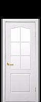 Двері МДФ Класік решітка н/СКЛО сатин 90 білі