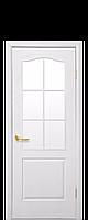 Двері МДФ Класік з арочн. рамкою 90 білі б/скла