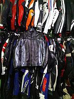 Мото куртка б/у кожа женская  черно серая