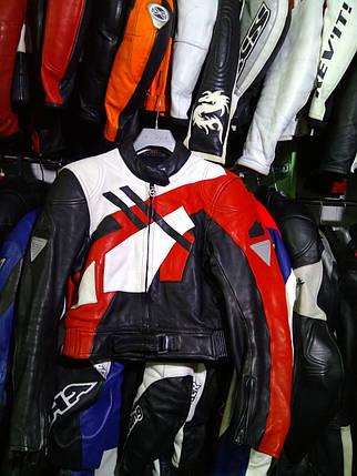 Мото куртка б/у кожа женская HenGericke, фото 2