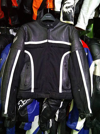 Мото куртка б/у кожа женская FRANK THOMAS, фото 2