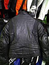 Мото куртка б/у кожа женская  черная, фото 3