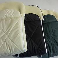 Спальный мешок-конверт меховый для новорожденного, фото 1