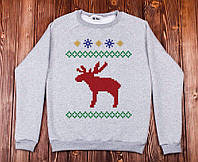 Свитшот кофта унисекс Северный олень,новогодние подарки