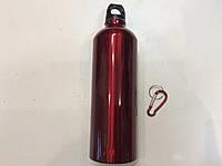 Бутылка спортивная алюминиевая с карабином 750 мл