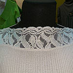 Кофточка тоненькая нежная серебряная светло серая рукав 3/4, фото 3