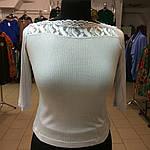 Кофточка тоненькая нежная серебряная светло серая рукав 3/4, фото 2