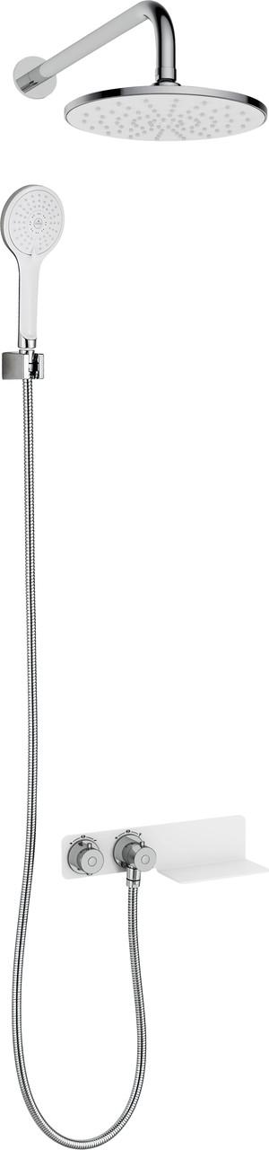 Комплект скрытого монтажа с термостатическим смесителем Deante LOBELIA, круглый