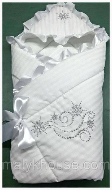 """Детское конверт-одеяло на выписку """"Снежинка"""""""