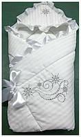 """Детское конверт-одеяло на выписку """"Снежинка"""", фото 1"""