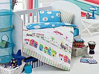 Детское постельное белье для младенцев Eponj Home Tren Mavi