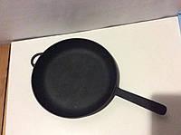Чугунная сковородка с чугунной ручкой 240х 40мм