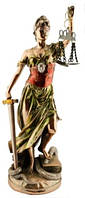 Статуэтка Фемида покрытая  латунью 120х320х120