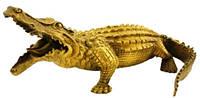 Статуэтка крокодил из бронзы 250х110х130