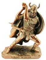 Статуэтка воин викинга покрытый латунью, 120х160х80