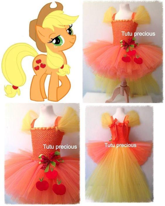 """Карнавальний костюм, юбка-платье из фатина  """"Пони Эпплджек"""""""