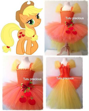 """Карнавальний костюм, юбка-платье из фатина  """"Пони Эпплджек"""", фото 2"""