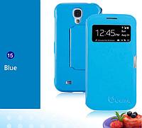 Уникальный чехол-книжка для Samsung Galaxy S4 i9500 голубой
