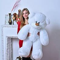 Плюшевая большая игрушка медведь, мишка 110 см, медвежонок ,белый