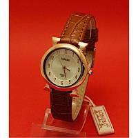 """Женские наручные часы с золотым корпусом и коричневым ремешком """"Лаги"""""""