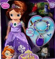 Кукла Принцесса София музыкальная  с питомцами ZT8809