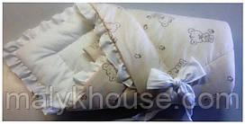 """Конверт-одеяло для новорожденного зимний """"Медвежатко"""""""