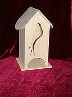 Домик коробка для чайных пакетиков птичка (10 х 10 х 23 см)