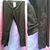 Лосины женские утепленные с рисунком черные