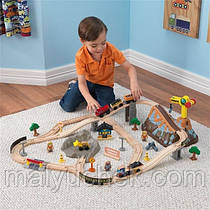 """Дерев'яна залізниця """"Будівництво в горах"""" KidKraft 17805"""