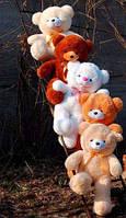 Плюшевая большая игрушка медведь, мишка 80 см, медвежонок ,разные цвета