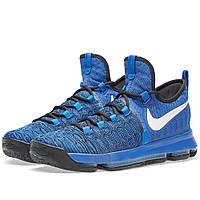 Оригинальные  кроссовки Nike Zoom KD 9 Game Royal, White & Black